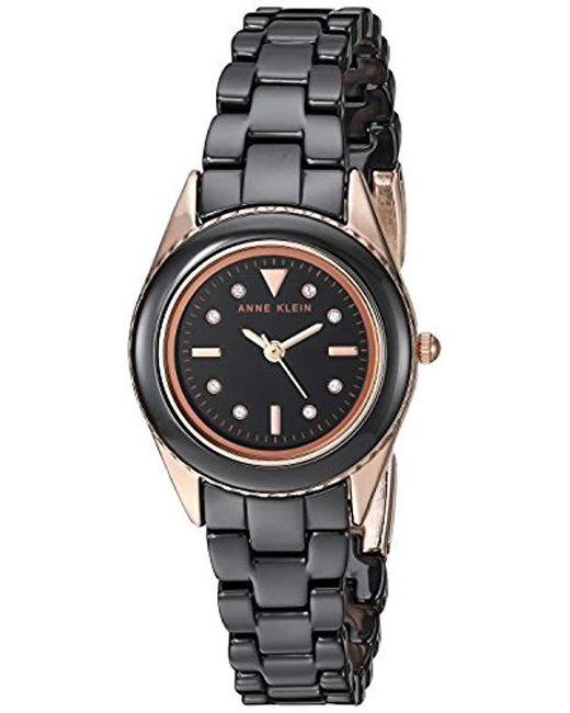 86d0fbbf7 Anne Klein - Metallic Ak/3165lpsv Swarovski Crystal Accented Ceramic  Bracelet Watch - Lyst ...