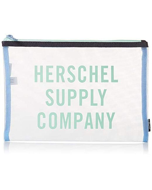 Herschel Supply Co. - Blue Network Large Mesh Pouch - Lyst