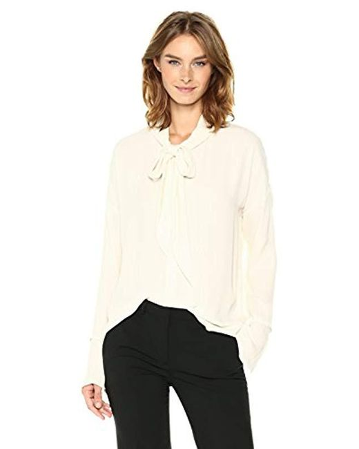 Theory - White Scarf Shirt B Top, - Lyst