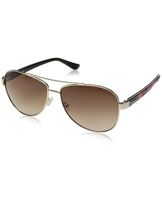 Guess - Multicolor Metal Aviator Sunglasses, 32f, 60 Mm - Lyst