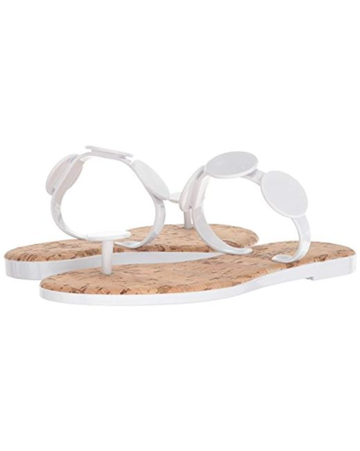 13e56edab96 Lyst - Bernardo New Moon Jelly Flip-flop in White - Save 12%
