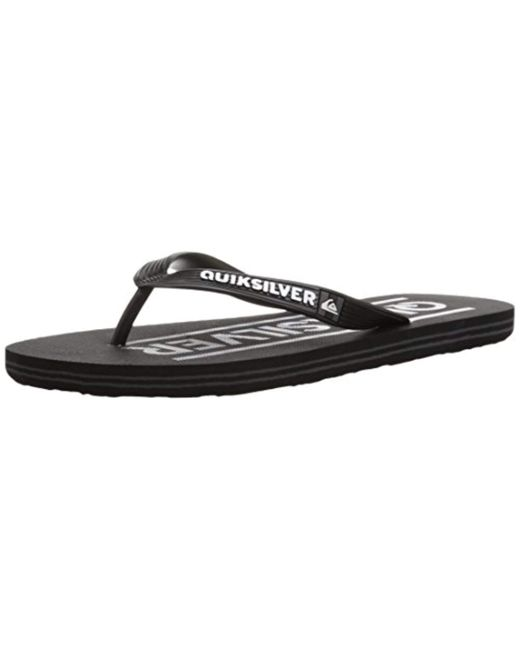 Quiksilver - Black Molokai Wordmark Sandal for Men - Lyst ... 32e93947f90