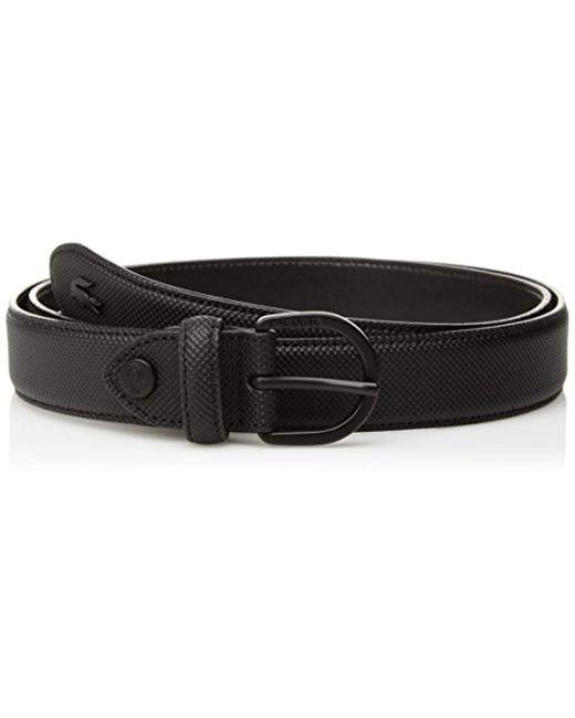 Lacoste - Black Reversible Pique Belt - Lyst