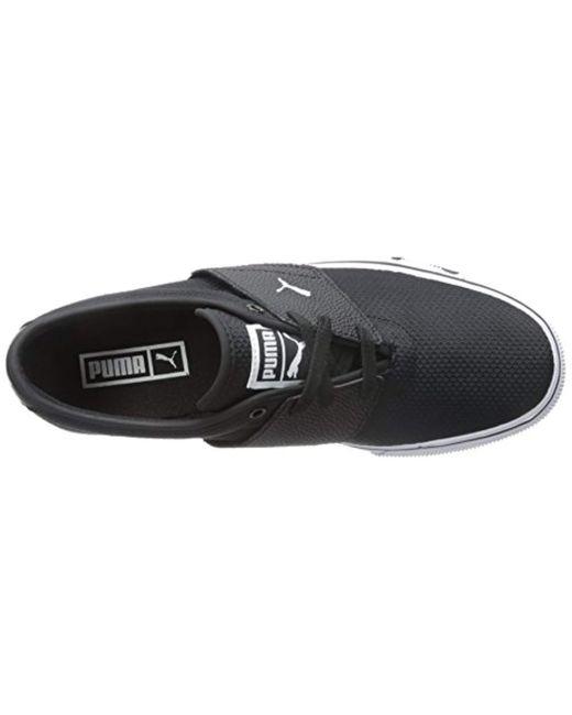 08fb1de484ecd7 ... PUMA - Black El Ace Textured Fashion Sneakers for Men - Lyst