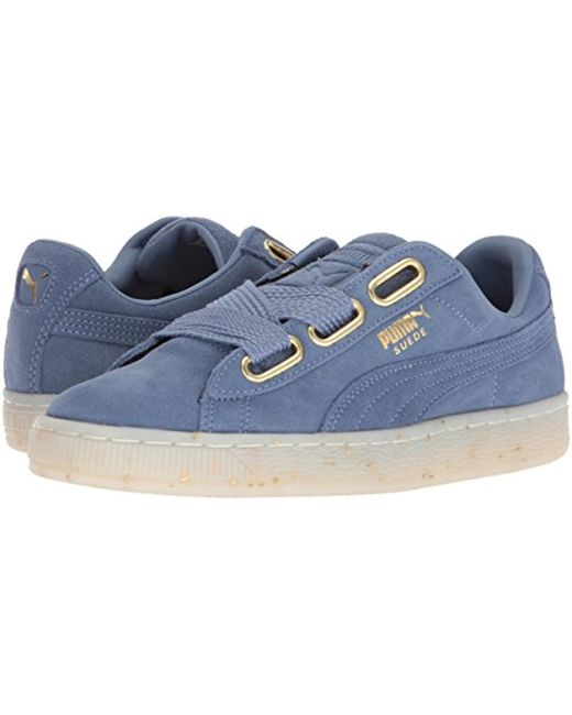 6c0fc151bea Lyst - PUMA Suede Heart Celebrate Wn s Sneaker in Blue - Save 40%