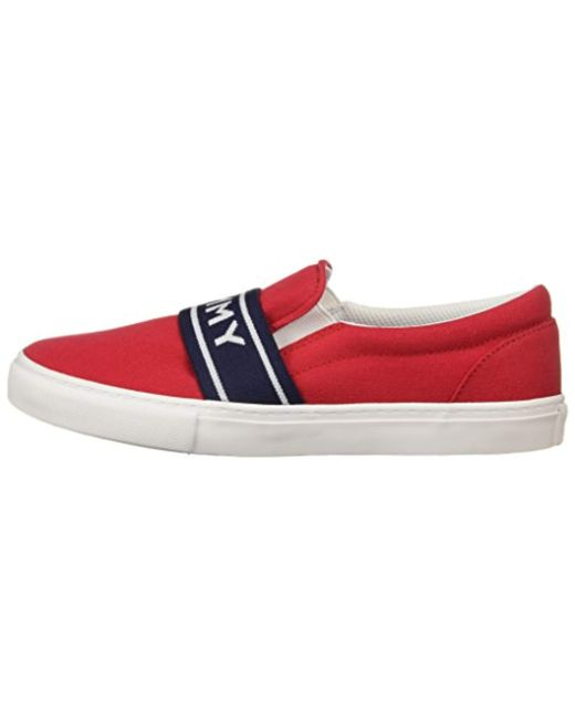 6a0995afb3f8 Lyst - Tommy Hilfiger Lourena Sneaker in Red - Save 59%