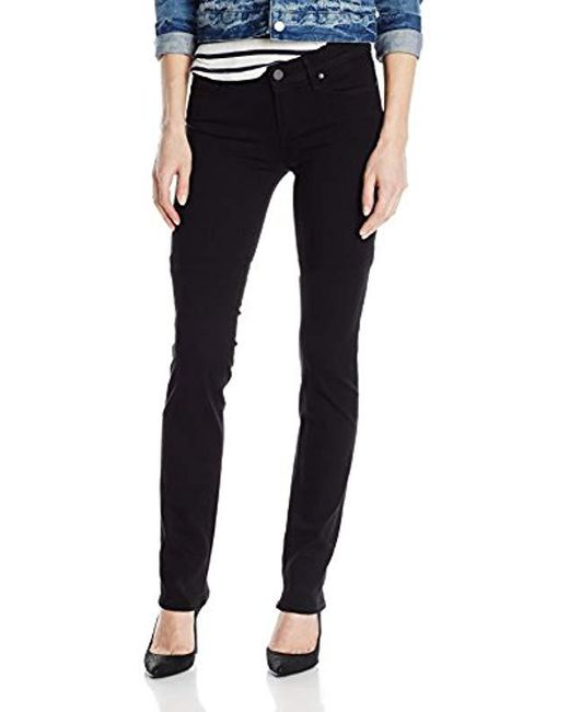 PAIGE - Black Skyline Straight-leg Jean In Vista - Lyst