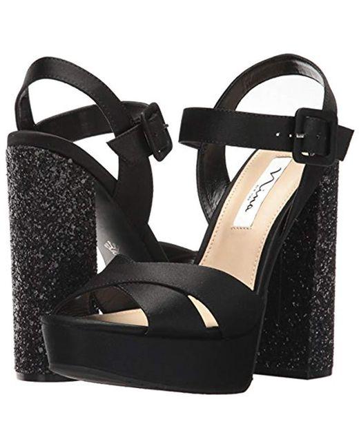 63877f95b1a0 Lyst - Nina Savita Platform Dress Sandal in Black - Save 76%