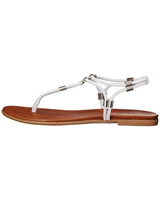 1f5b2f9b8 ... Madden Girl - White Flexii Flat Sandal - Lyst ...