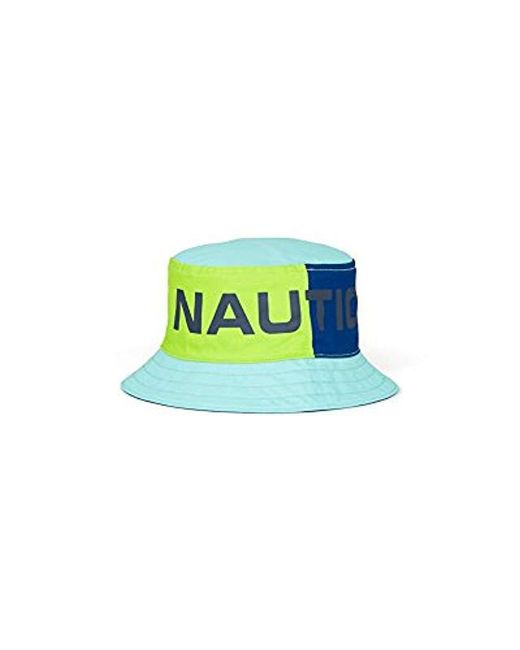 Lyst - Nautica Logo Bucket Hat in Blue for Men - Save 69% 5729e6c36edd
