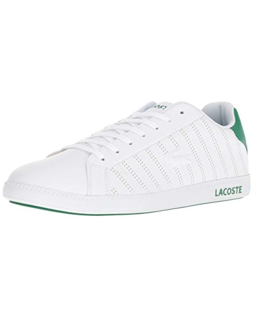 76f1d1bcf2c Lyst - Lacoste Graduate 318 1 Sneaker in White for Men - Save 15%