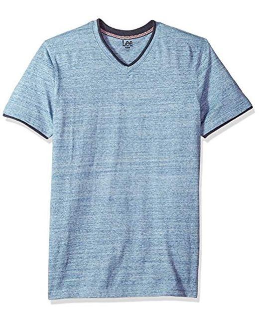 Lee Jeans - Blue Short Sve Vneck Tee for Men - Lyst