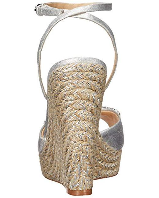 e19e0b399b19 ... Badgley Mischka - Metallic Annabel Espadrille Wedge Sandal - Lyst ...