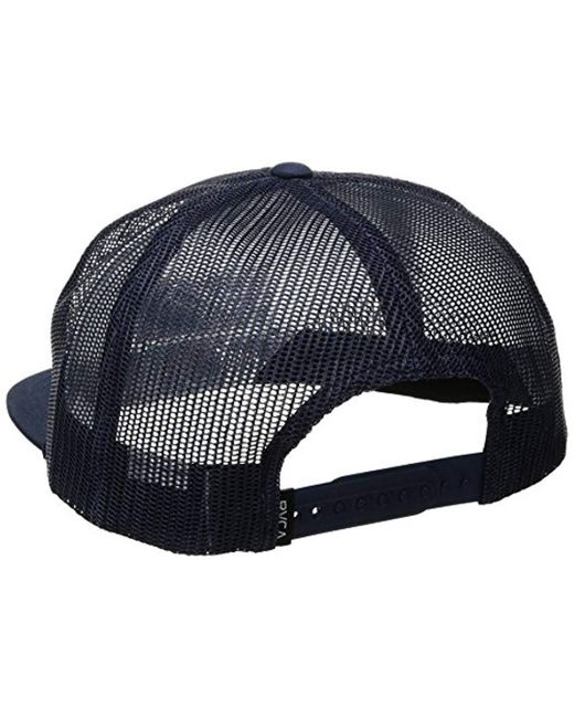 eb362c5c6c3 ... RVCA - Blue Merica Trucker Hat for Men - Lyst