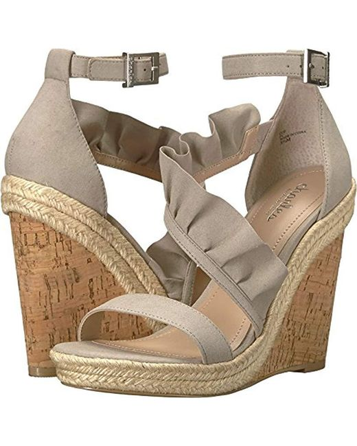 Charles David - Gray Brooke Wedge Sandal - Lyst