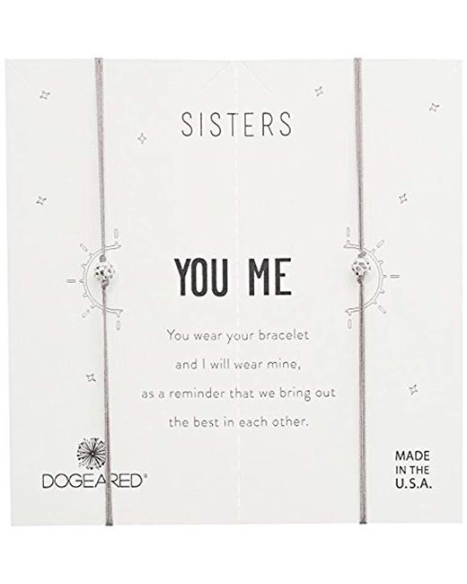 Dogeared - Metallic Sisters, Sparkle Ball On Pebble Cord Bracelet, Set Of 2, 0.925 Sterling Silver, Adjustable - Lyst