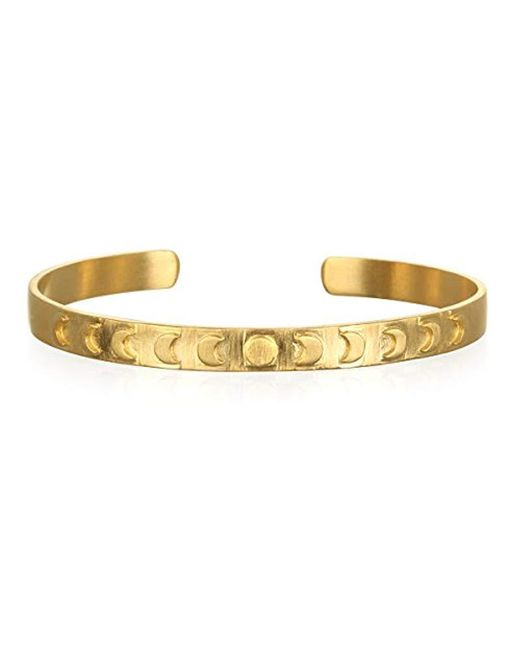 Satya Jewelry - Metallic Gold Plate Moon Phase Cuff Bracelet - Lyst