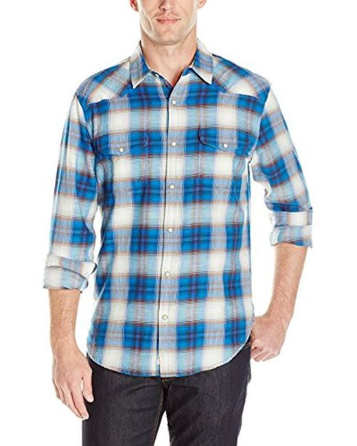Lucky Brand - Santa Fe Western Shirt In Blue Ombre for Men - Lyst