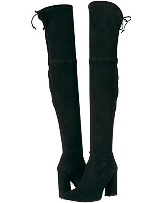 759839cfc ... Stuart Weitzman - Black Funland Over The Over The Knee Boot - Lyst ...