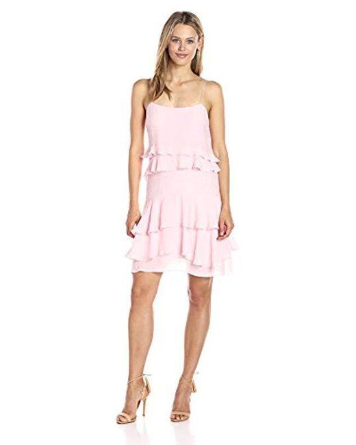 Guess - Pink Sleeveless Gracie Ruffle Dress - Lyst