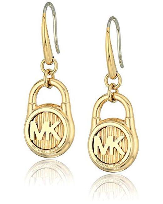Michael Kors - Metallic Hamilton -tone Drop Earrings - Lyst