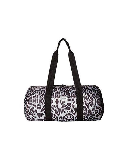 ee9a20047310 Lyst - Herschel Supply Co. Packable Duffel Bag in Black for Men ...