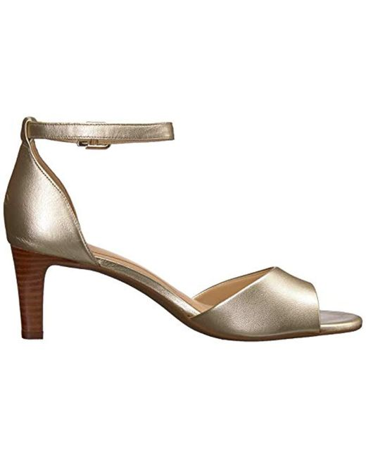 cb6237aa735d4d ... Clarks - Metallic Laureti Grace Heeled Sandal - Lyst ...