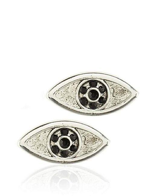 House of Harlow 1960 - Metallic Silver-tone Evil Eye Stud Earrings - Lyst
