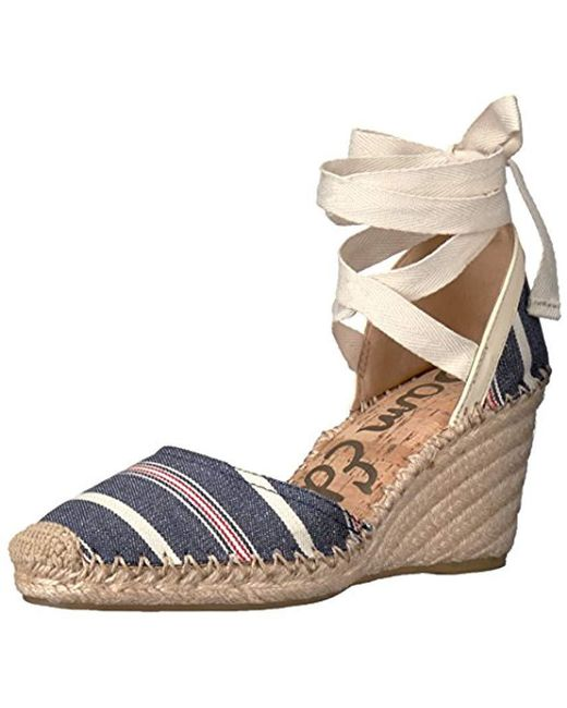 f5c9c9cbdf57 Lyst - Sam Edelman Patsy Espadrille Wedge Sandal in Brown - Save 75%
