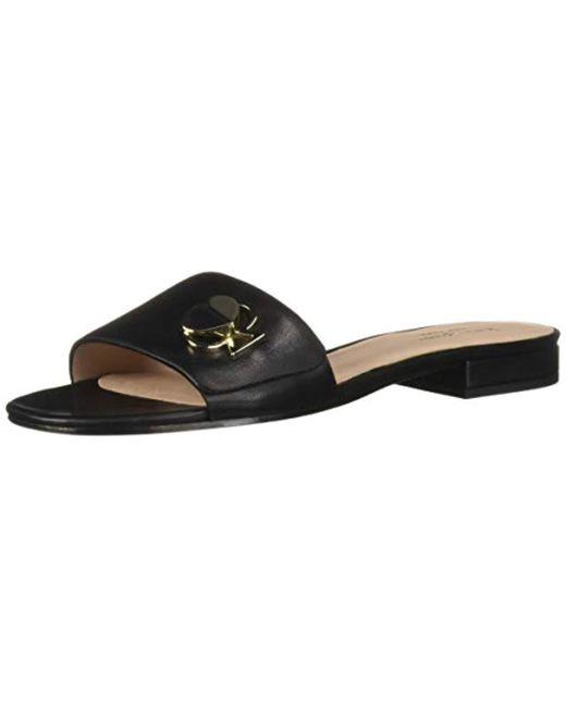 72f81c069 Kate Spade - Black Ferry Sandal Flat - Lyst ...