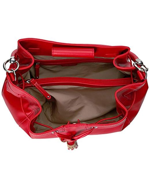 29b41b537ab91 Lyst - Nine West Take A Lift Shoulder Bucket Back in Red - Save 66%
