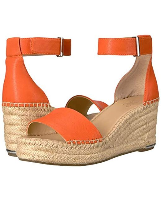 fb3ed10f678 Women's Orange Clemens Espadrille Wedge Sandal