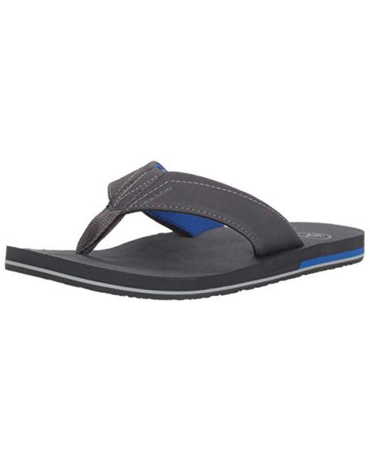 Volcom - Gray Victor Flip Flop Sandal for Men - Lyst