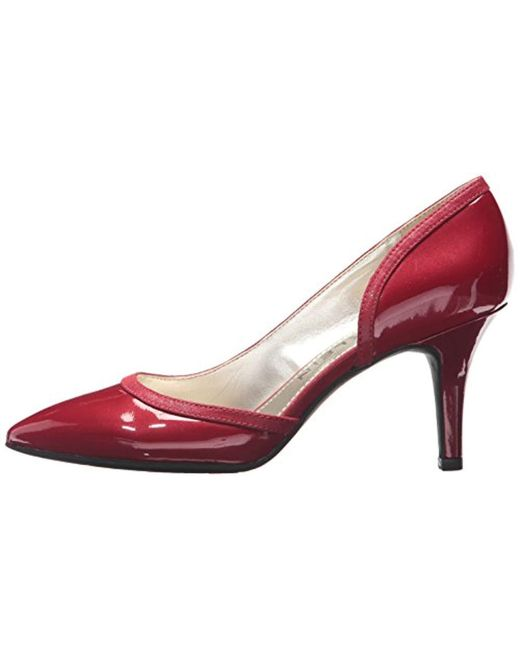 29e90ed9d4 Lyst - Anne Klein Yanci Patent Pump in Red - Save 60%