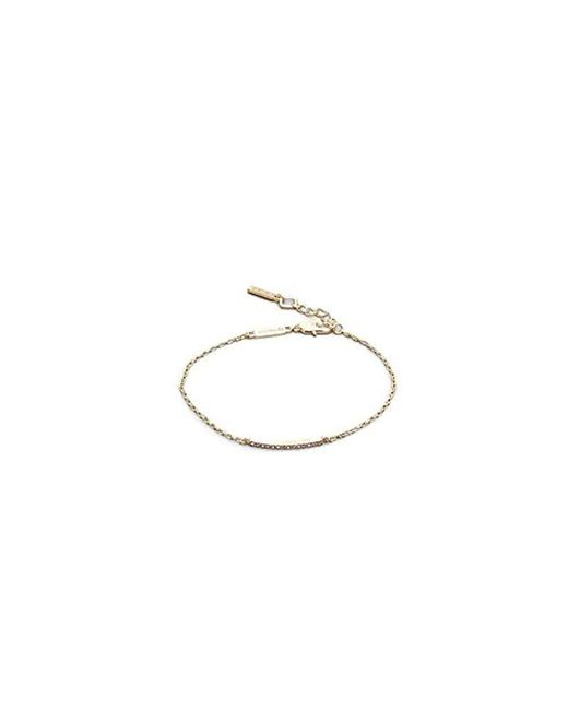 Kenneth Cole - Metallic New York Gold-tone Crystal Bar Anklet - - Lyst