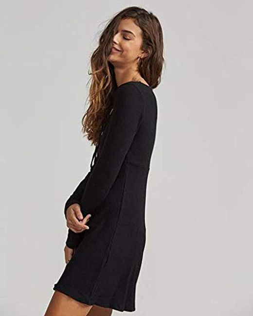 09b22a97b7 Lyst - Billabong Walk On Dress in Black - Save 4%