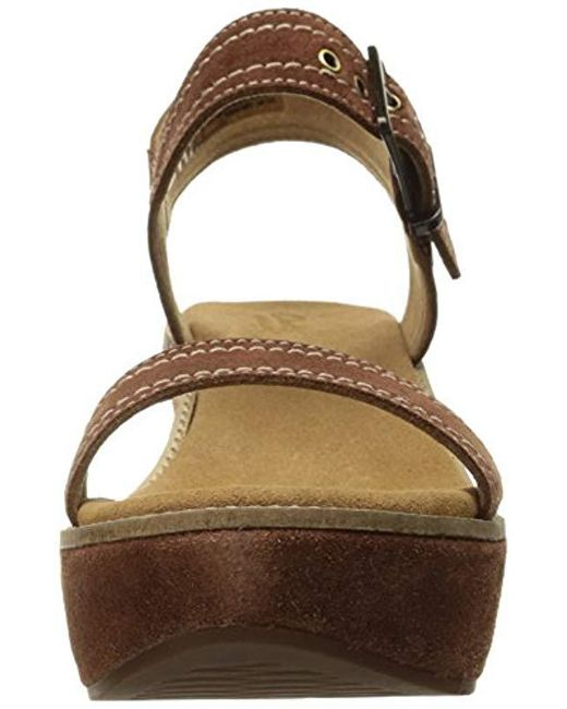 5c524dc43cb0 Lyst - Clarks Aisley Orchid Wedge Sandal in Brown - Save 58%