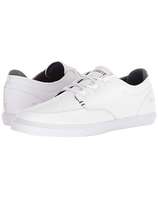 e0bdf3e21a8a8 ... Lacoste - White Esparre Deck Sneaker for Men - Lyst ...