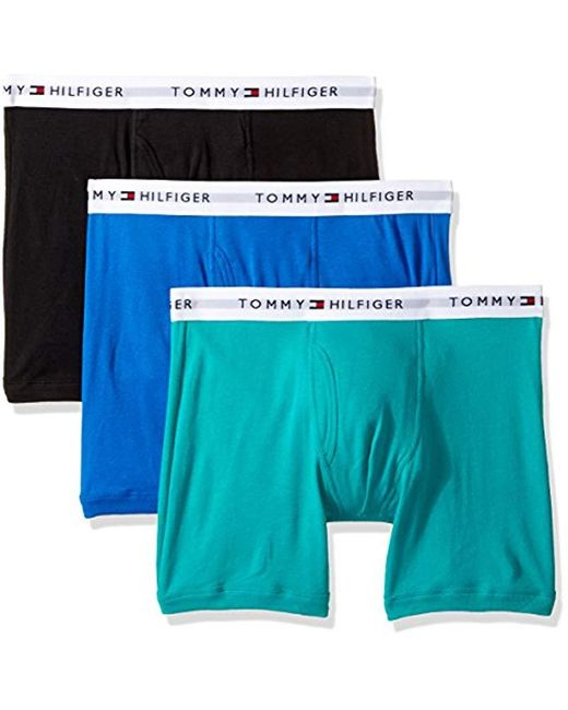 058672a152bbca Tommy Hilfiger - Multicolor Underwear 3 Pack Cotton Classics Boxer Briefs  for Men - Lyst ...