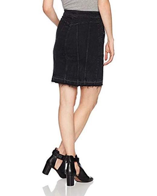 89095b2a9e Lyst - DL1961 Poppy Skirt in Black - Save 86%