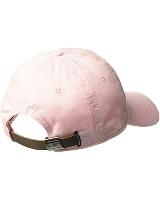 the best attitude 7c2d1 b95c0 ... Tommy Hilfiger - Pink Logo Dad Baseball Cap for Men - Lyst ...