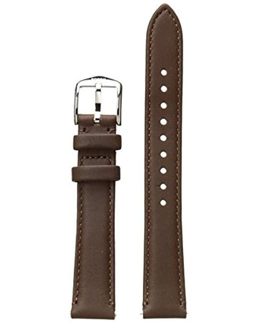 Fossil Brown 16mm Leather Watch Band