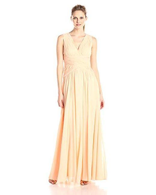 Donna Morgan - Multicolor Sleeveless V Neck Cross Bodice Gown - Lyst