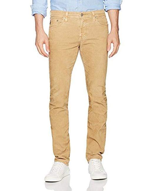 AG Jeans - Natural Matchbox Slim Straight Leg Corduroy for Men - Lyst