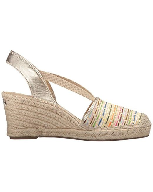 6e5fe8cc8a8 Lyst - Anne Klein Abbey Natural Espadrille Wedge Sandal in Natural ...