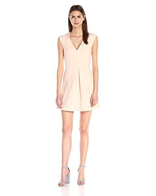 French Connection - Pink Capri Cotton Dress - Lyst