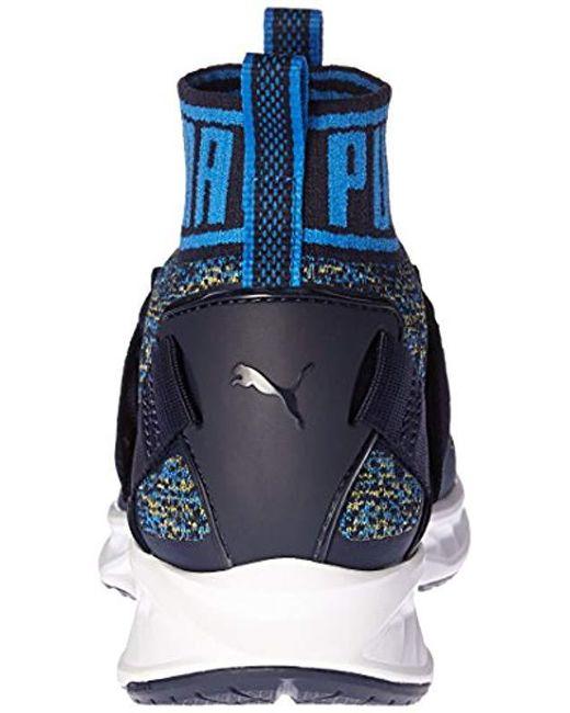 6a7833e957d2 Lyst - PUMA Ignite Evoknit Cross-trainer Shoe in Blue for Men - Save 45%