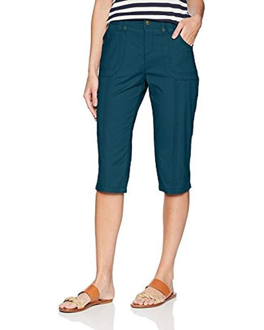 Lee Jeans - Blue Relaxed Fit Lyric Knit Waist Cargo Capri Pant - Lyst
