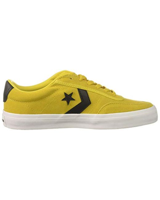 dc6e91cd81bf ... Converse - Yellow Courtlandt Suede Leather Low Top Sneaker for Men -  Lyst ...