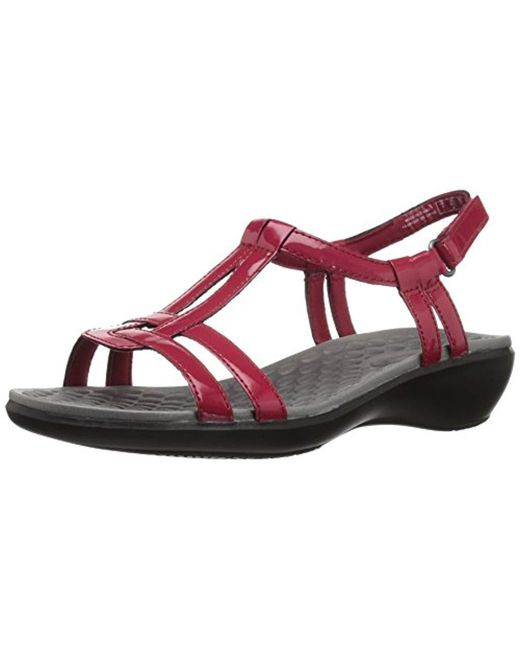 f36b0395cbaa Lyst - Clarks Sonar Aster Sandal in Red - Save 2%